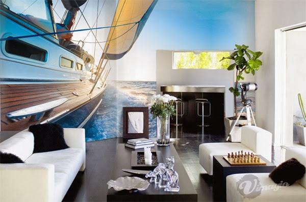 decoracion-de interiores-con-papel-mural-efecto-3d