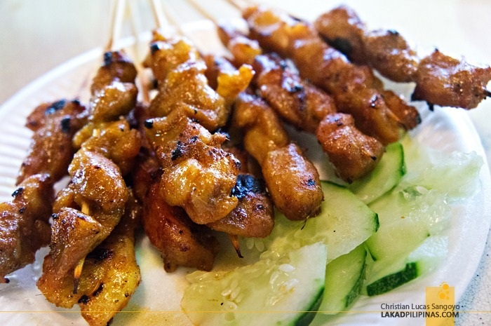 Pork Satays from the Hawker Stalls at Singapore's Newton Circus