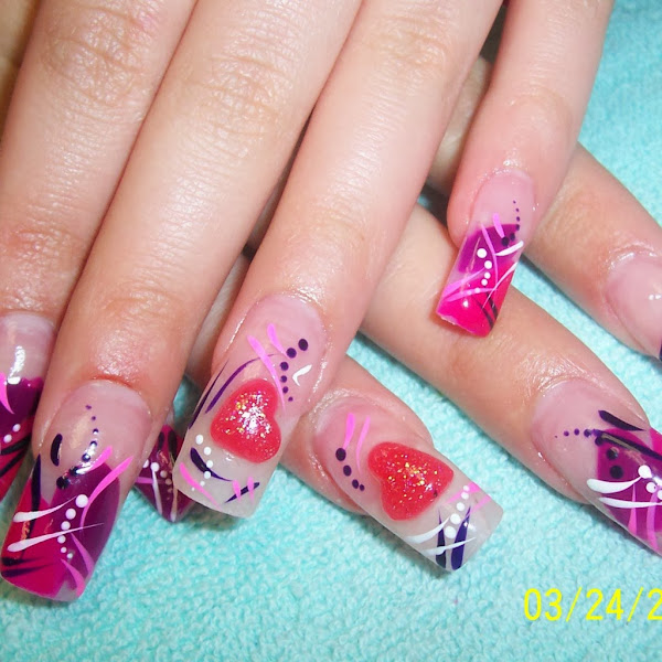 Acrylic Nail Design 124 1024x1024 Unique Acrylic Nail Designs