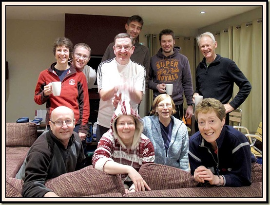L-R: Front: Roger, Louise, Peg, Lyn - Back: Sue, Stuart, Jim, Robert, Chris, Martin