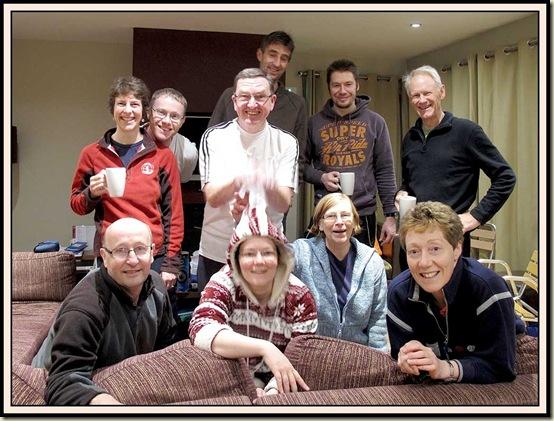 L-R: Front: Roger, Louise, Peg, Lyn - Back: Sue, Stuart, Jim, Robert, Chris, Martin