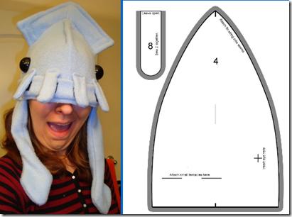 hacer gorro de calamar para disfraz