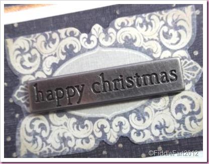 Christmas Prhase eyelet
