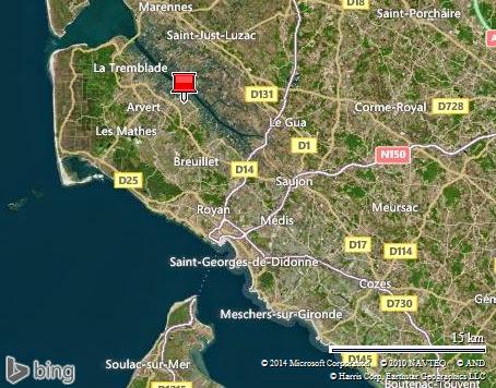 La Tremblade à Meschers-sur-Gironde dans l'estuaire de la Gironde