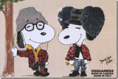 Peanuts X Metlife - Snoopy and Belle in Fashion by Dsquared2