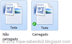 Arquivo não carregado e carregado