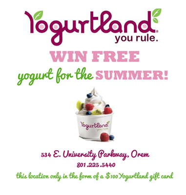 yogurtland summer giveaway