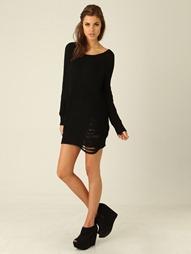 oversized jumper dress black