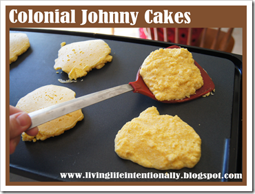 Colonial Food -Johnny Cakes