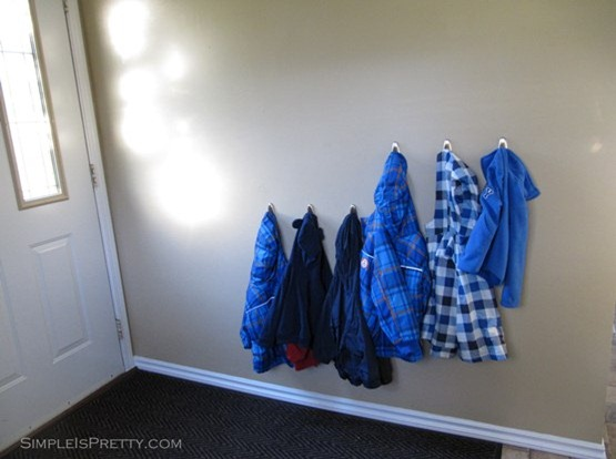 simpleispretty.com: Kid's Coats in Porch