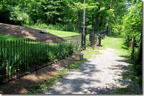 Path to entrance to the Confederate Cemetery, Lewisburg, WV