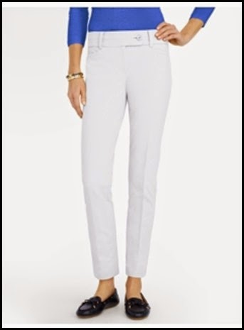 Talbot slimming bi-stretch ankle pant