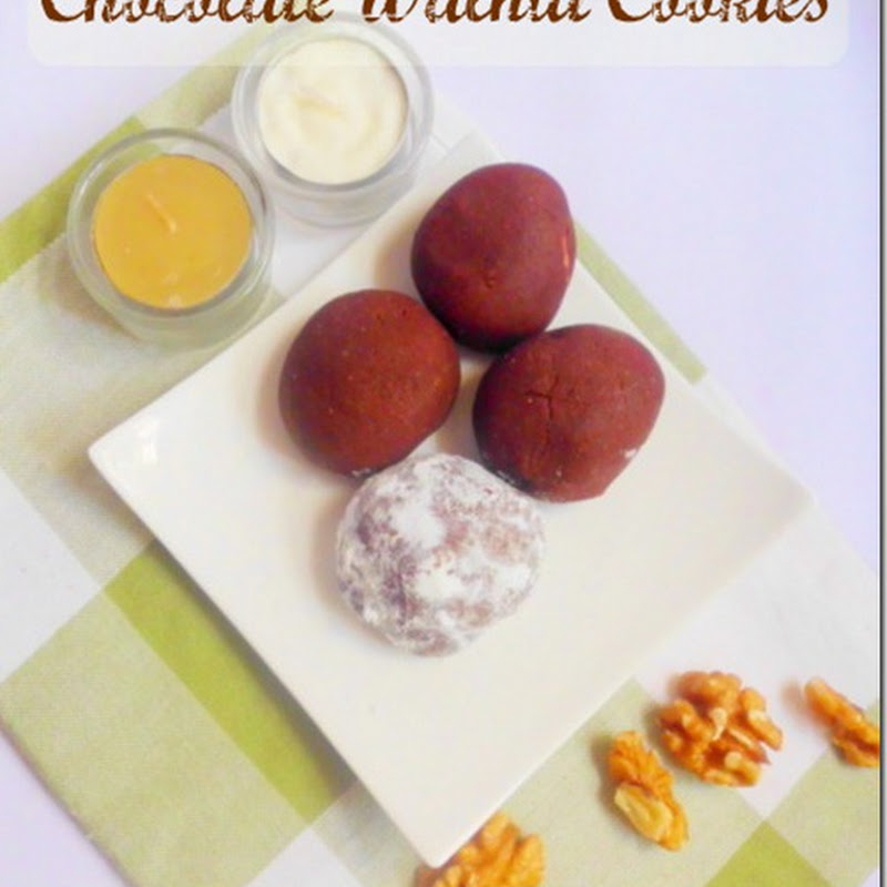 Eggless Chocolate Walnut Cookies | Brownie Cookies Recipe