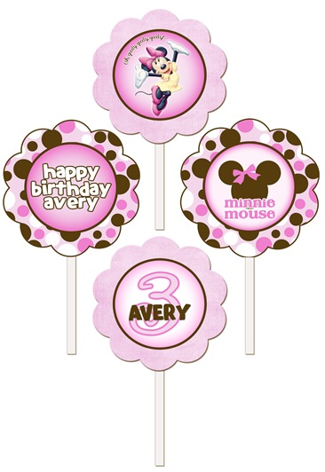 minnie cupcake toppers-1