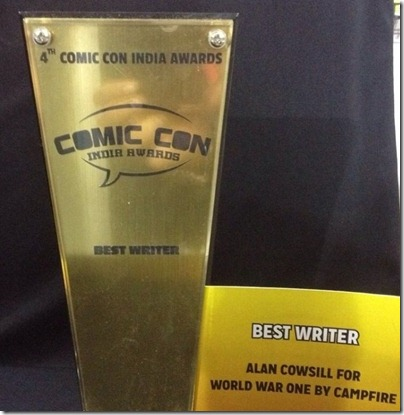 Comic Con Awards Best Writer World War 1