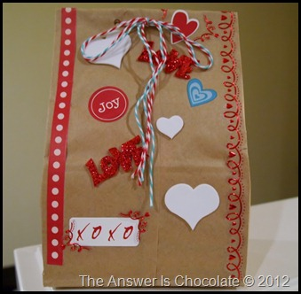 Brown Paper Package Valentines