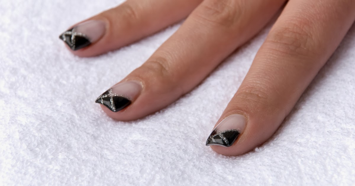 Black Nails With Designs | Nail Designs, Hair Styles, Tattoos and ...