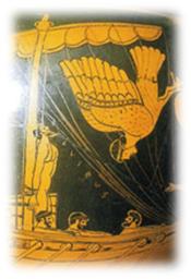 Vasija de Cere, Grecia, Ulises y las sirenas.