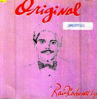 Raul Carbonell Hijo  Original Y Sin Copia  LP Front