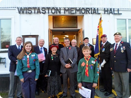 Participants at the Service of Remembrance in Wistaston
