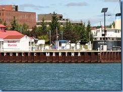 5063 Michigan - Sault Sainte Marie, MI -  St Marys River - Soo Locks Boat Tours - shoreline on Canadian side