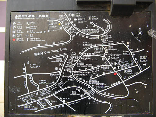 map of town zhujiajiao 朱家角地图