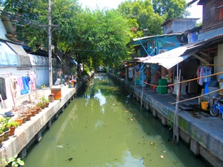 One of the many small canals that wnd through the city