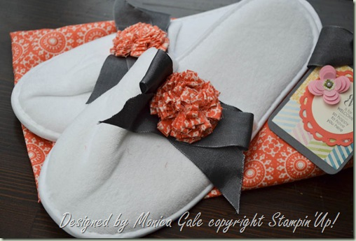 Tea for Two fabric pillow gifts slippers