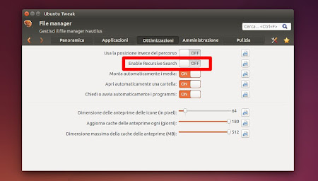 Ubuntu Tweak 0.8.7 - Nautilus Recursive Search