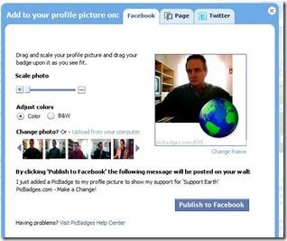 avatar picbadges twitter facebook
