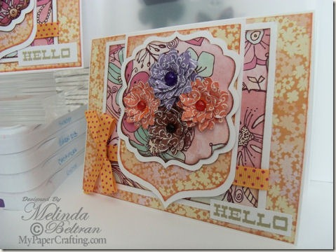 dcwv floral fair stack cricut card 475a