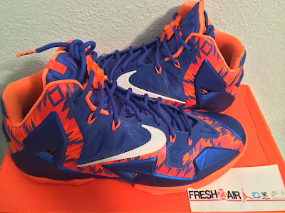 nike lebron 11 pe florida gators 2 02 Closer Look at Zigzagged Nike LeBron XI Florida Gators Away PE