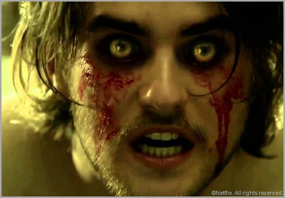 This is what happens when you watch too much TV. Landon Liboiron wolfs out in the Netflix original series HEMLOCK GROVE.