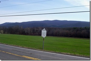 Jackson Home and Howard's Lick marker along Route 259 in Hardy Co. WV