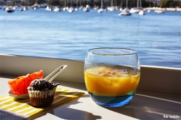Colour Theory Australian Launch - Sailors Club Rose Bay - View - Muffin, Orange Juice