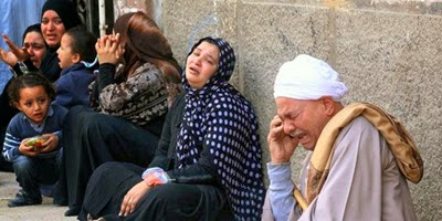 Relatives at Minya Criminal Court