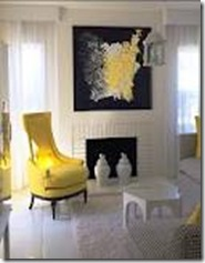 kelly wearstler yellow chair