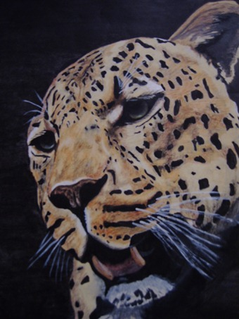 tracey snyman leopard painting