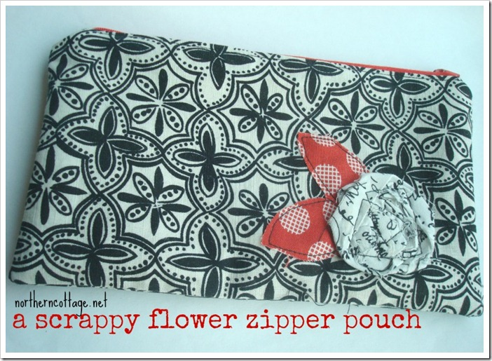 scrappy zipper pouch