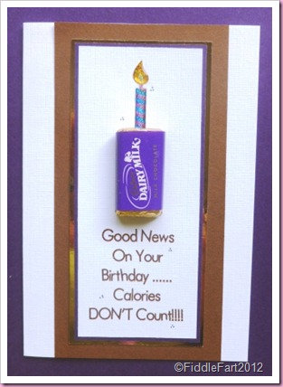 Chocolate Birthday card cadburys Dairy Milk