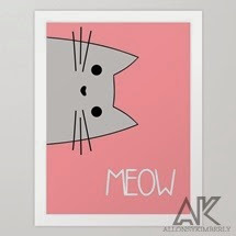 Meow Art Print by August Decorous on Society6
