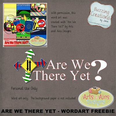 Arts and Ains Designs - Are We There Yet - Wordart Freebie Preview