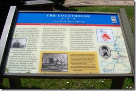 The Courthouse - Civil War Trails marker in front of courthouse
