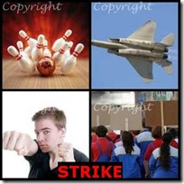 STRIKE- 4 Pics 1 Word Answers 3 Letters