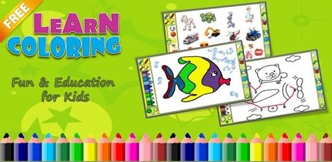 aplicacion android aprende coloreando