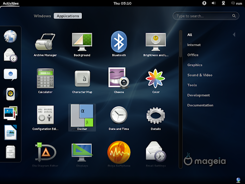 Mageia 2 Beta 3  - GNOME