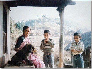 Mom, Bro n Me Wid Bhotu