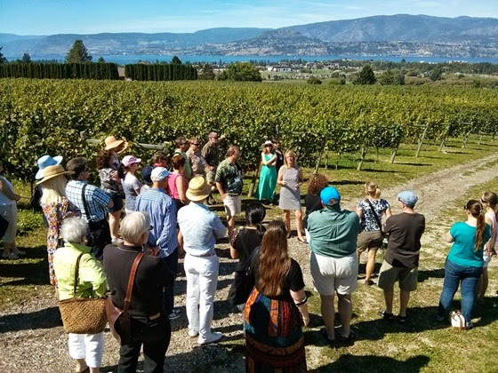 Jane Hatch leads a tour of the Tantalus vineyards