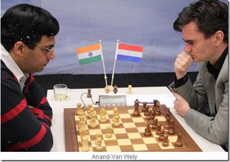 Anand vs Van Wely, Tata Steel 2013