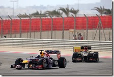 Vettel davanti a Raikkonen nel gran premio del Bahrain 2013